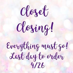 Closet Closing Sale